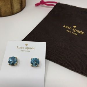 Kate Spade Blue Stud Earrings plus duster bag